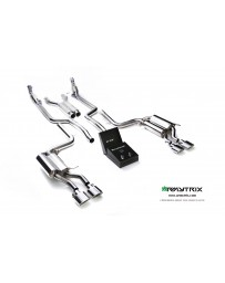 ARMYTRIX Stainless Steel Valvetronic Catback Exhaust Quad Chrome Silver Tips Mercedes Benz C63 AMG W204 08-14