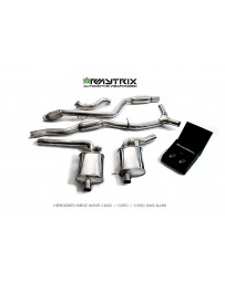 ARMYTRIX Stainless Steel Valvetronic Catback Exhaust System Mercedes Benz C-Class W205 LHD 15-18