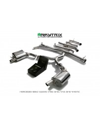 ARMYTRIX Stainless Steel Valvetronic Catback Exhaust System for OEM Diffuser Mercedes Benz C400 | C43 AMG W205 15-18