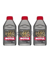 350z Motul RBF 660 Racing Brake Fluid, DOT 4 - 3 Pack
