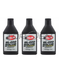 370z Red Line RL-600 Racing Brake Fluid - 16 oz - 3 Pack