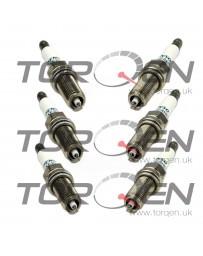 370z Nissan OEM Denso 3457 Iridium Spark Plug Set - FXE24HR11