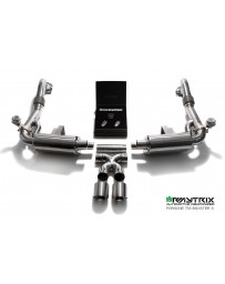 ARMYTRIX Stainless Steel Valvetronic Exhaust System Dual Blue Coated Tips Porsche 718 Boxster | Cayman 17-18