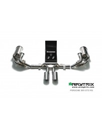 ARMYTRIX Stainless Steel Valvetronic Exhaust System Dual Matte Black Tips Porsche 991 GT3 | GT3 RS 14-16
