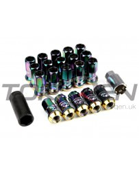 350z Project Kics R40 Racing Lug Nuts with Locks M12x1.25mm Neo Chrome