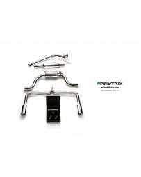 ARMYTRIX Stainless Steel Valvetronic Catback Exhaust System Dual Matte Black Tips Volkswagen Golf | GTI MK7 14-16