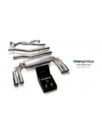 ARMYTRIX Stainless Steel Valvetronic Catback Exhaust System Quad Blue Coated Tips Volkswagen Golf R MK7 14-16