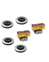 370z StopTech Discs & Hawk Performance Ceramic Pads kit for Akebono brakes - DRILLED