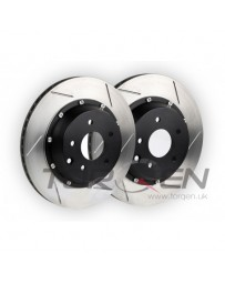350z Stoptech Replacement 2pc AeroRotor, Slotted - Rear with Brembo Calipers