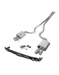 Mustang 2015+ Ford Performance 304 SS Active Cat-Back Exhaust System with Quad Rear Exit