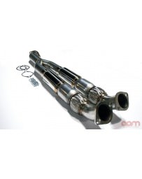 Nissan GT-R R35 AAM Competition High Flow Cat Midpipe Resonated