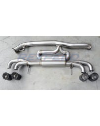 Nissan GT-R R35 Rexpeed Stainless Steel Exhaust Muffler with Dry Carbon Tips