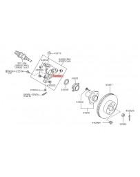 350z Nissan OEM Rear Control Arm Bushings, Knuckle Side