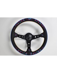 370z VERTEX SPEED STEERING WHEEL BLUE & PINK