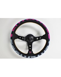 370z VERTEX 1996 STEERING WHEEL PINK