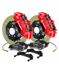 R34 Brembo GT Series Cross Drilled 2-Piece Rotor Front Big Brake Kit - Red
