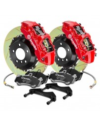 R34 Brembo GT Series Slotted 2-Piece Rotor Rear Big Brake Kit - Red
