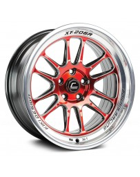 "COSMIS RACING - XT-206R Red with Machined Lip (18"" x 9.5"", +10 Offset, 5x114.3 Bolt Pattern, 73.1mm Hub)"