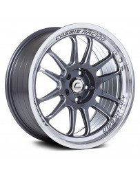 "COSMIS RACING - XT-206R Gunmetal with Machined Lip (18"" x 9.5"", +10 Offset, 5x114.3 Bolt Pattern, 73.1mm Hub)"