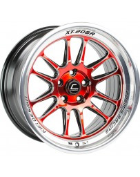 "COSMIS RACING - XT-206R Black with Red Face & Machined Lip (18"" x 9"", +33 Offset, 5x114.3 Bolt Pattern, 73.1mm Hub"
