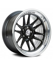"COSMIS RACING - XT-206R Black with Machined Lip (17"" x 9"", +5 Offset, 5x114.3 Bolt Pattern, 73.1mm Hub)"