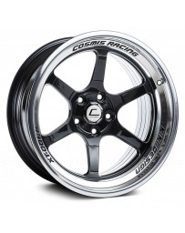 "COSMIS RACING - XT-006R Black with Machined Lip (20"" x 9.5"", +10 Offset, 5x120.65 Bolt Pattern, 74.1mm Hub)"