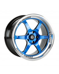 "COSMIS RACING - XT-006R Black with Blue Face Machined Lip (18"" x 9"", +35 Offset, 5x114.3 Bolt Pattern, 73.1mm Hub)"