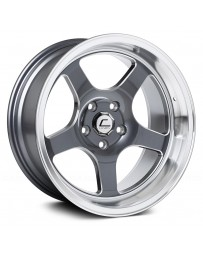 "COSMIS RACING - XT-005R Gunmetal with Machined Lip and Milled Spokes (18"" x 9"", +25 Offset, 5x100 Bolt Pattern, 73.1mm Hub)"