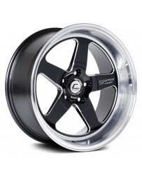 "COSMIS RACING - XT-005R Black with Machined Lip (18"" x 10"", +20 Offset, 5x120.65 Bolt Pattern, 74.1mm Hub)"