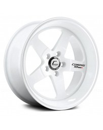"COSMIS RACING - XT-005R White (17"" x 9.5"", +5 Offset, 5x114.3 Bolt Pattern, 73.1mm Hub)"