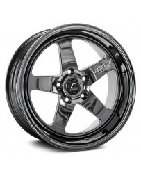 "COSMIS RACING - XT-005R Black Chrome (17"" x 9.5"", +5 Offset, 5x114.3 Bolt Pattern, 73.1mm Hub)"