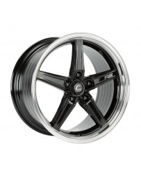 COSMIS RACING - R5 18x9.5 +25mm 5x120 COLOR: Black with Machined Lip