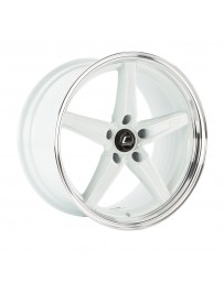 COSMIS RACING - R5 18x9.5 +12mm 5x114.3 COLOR: White with Machined Lip