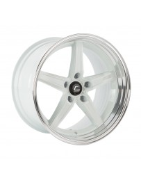 COSMIS RACING - R5 18x10.5 +22mm 5x120 COLOR: White with Machined Lip