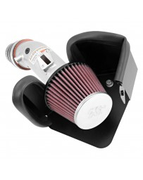 Nissan Juke Nismo RS 2014+ K&N 69 Series Typhoon Aluminum Silver Cold Air Intake System with Red Filter