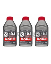 Nissan Juke Nismo RS 2014+ Motul Dot 5.1 Synthetic Racing Brake / Clutch Fluid, 3-Pack