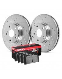 Nissan Juke Nismo RS 2014+ Hawk Sector 27 HPS 5.0 Drilled and Slotted Rear Brake Kit