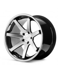 Ferrada FR1 Machine Black Chrome Lip 22x9.5 Bolt 5x4.75 Offset +15 Hub Size 74.1 Backspace 5.84