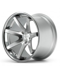Ferrada FR1 Machine Silver Chrome Lip 20x10.5 Bolt 5x4.75 Offset +20 Hub Size 74.1 Backspace 6.54