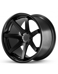 Ferrada FR1 Matte Black Gloss Black Lip 22x9 Bolt 5x130 Offset +42 Hub Size 71.6 Backspace 6.65