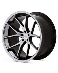 Ferrada FR2 Machine Black Chrome Lip 22x9.5 Bolt 5x4.75 Offset +15 Hub Size 74.1 Backspace 5.84