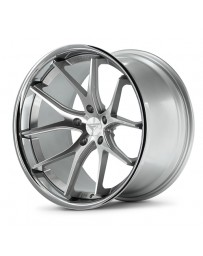 Ferrada FR2 Machine Silver Chrome Lip 20x10.5 Bolt : 5x4.75 Offset : +28 Hub Size : 74.1 Backspace : 6.85