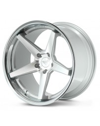 Ferrada FR3 Machine Silver Chrome Lip 19x10.5 Bolt : 5x4.5 Offset : +38 Hub Size : 73.1 Backspace : 7.25