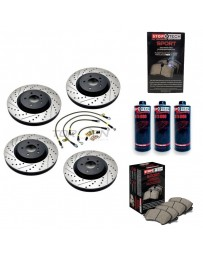 350z StopTech F+R Brake Discs Pads Lines and Fluid Pack - Drilled+Slotted - Brembo