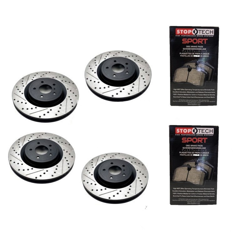 350z StopTech Discs & Sport Performance Pads kit for Brembo brakes - SLOTTED & DRILLED