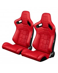 BRAUM ELITE-X SERIES RACING SEATS (RED KOMODO EDITION) – PAIR