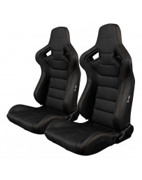 BRAUM ELITE SERIES RACING SEATS (ORANGE STITCHING) – PAIR