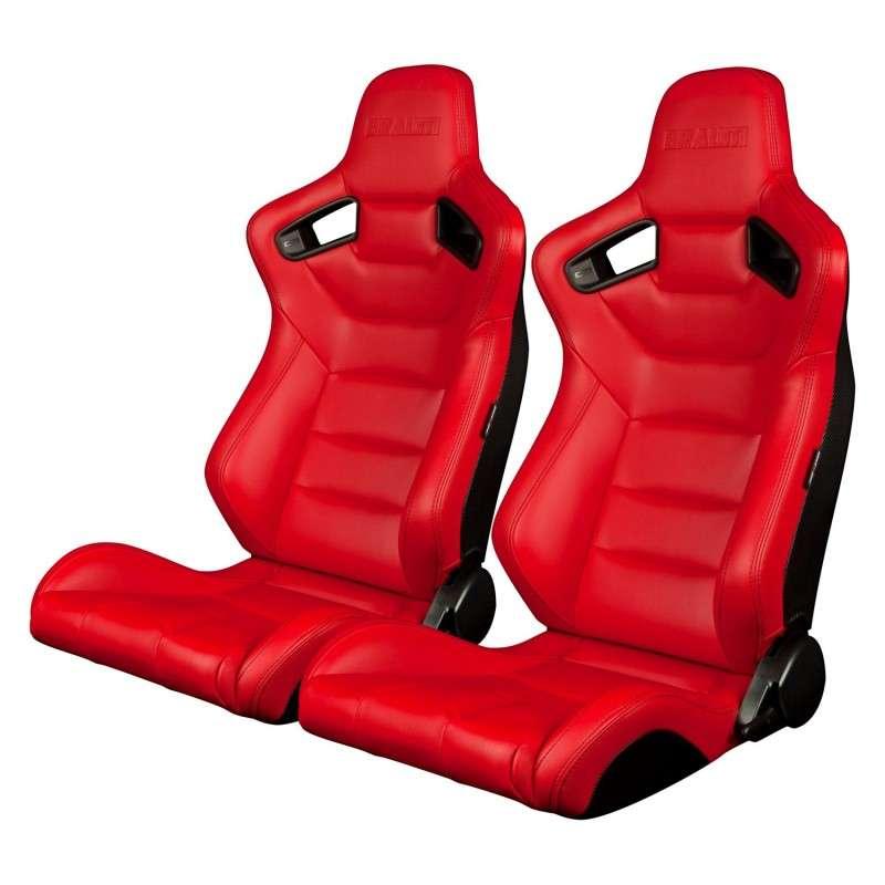 BRAUM ELITE SERIES RACING SEATS (RED) – PAIR