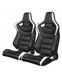 BRAUM ELITE SERIES RACING SEATS (BLACK & WHITE) – PAIR