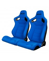 BRAUM ELITE SERIES RACING SEATS (BLUE CLOTH) – PAIR